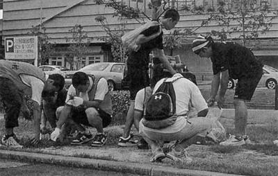玄洋高校・郊外清掃活動